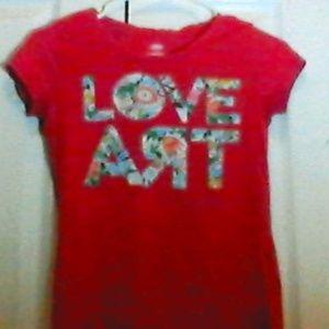 """Old Navy """"Love Art"""" T-shirt"""